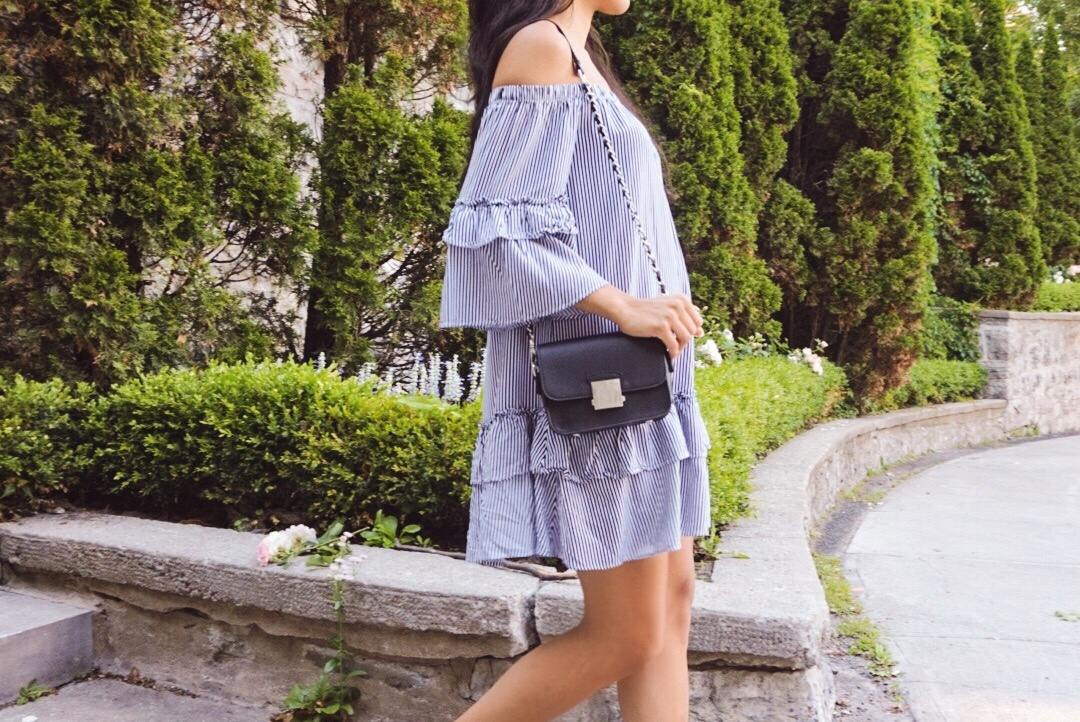 Ruffles and off-the-shoulders